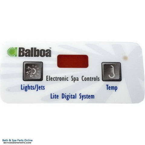 Balboa 2-Button [3 Digital] Lite Digital Topside Panel Overlay (10694)