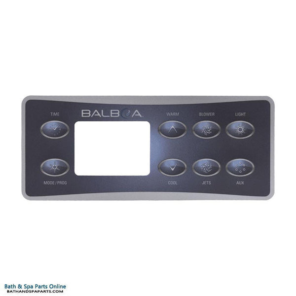 Balboa 8-Button Serial Deluxe Topside Panel Overlay (10823)