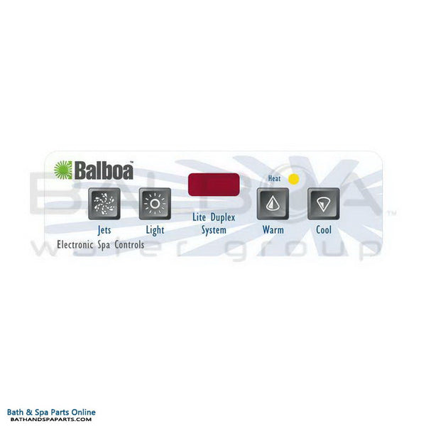 Balboa 4-Button E4 Topside Panel Overlay [Jets/Light] (11448)