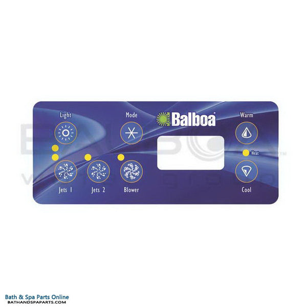 Balboa 7-Button ML Series Topside Panel Overlay [2 Jets/Blower] (11609)