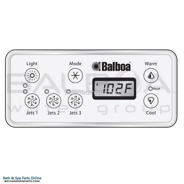 Balboa 7-Button ML551 Topside Panel Overlay [3-Jets] (11899)