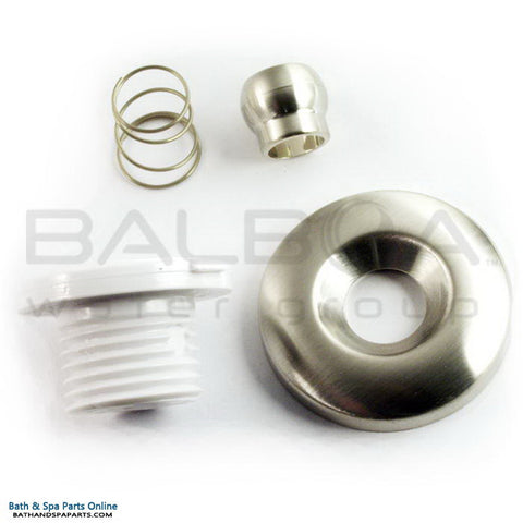 Balboa Bath Micro Duo Jet W/Escutsceon/Eyeball/Spring [Polished Chrome] (20283-PC)