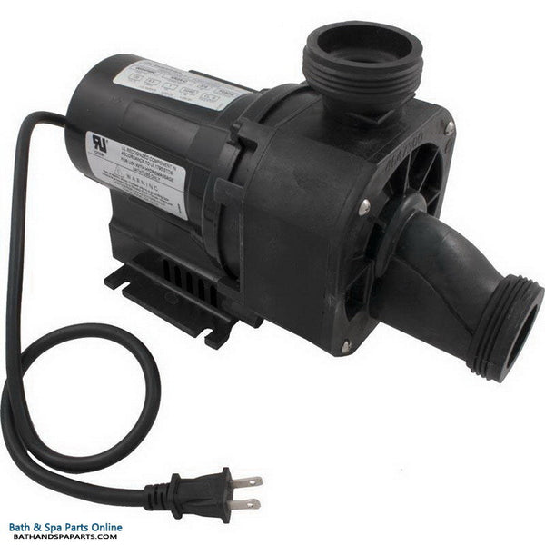 Balboa 1.5 HP Gemini Plus II NR4A-C Bath Pump [120V] [12.5 Amps] [Air Switch/Cord/White Air Button/Tubing] (ITT NR4A-C)