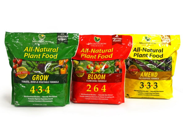 MightyGrow Nutrients Combo Pack - (Grow 6lb., Amend 6lb., Bloom 6lb.)
