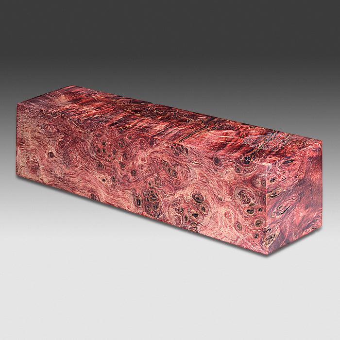 1294 Mappa Burl - Dyed Red