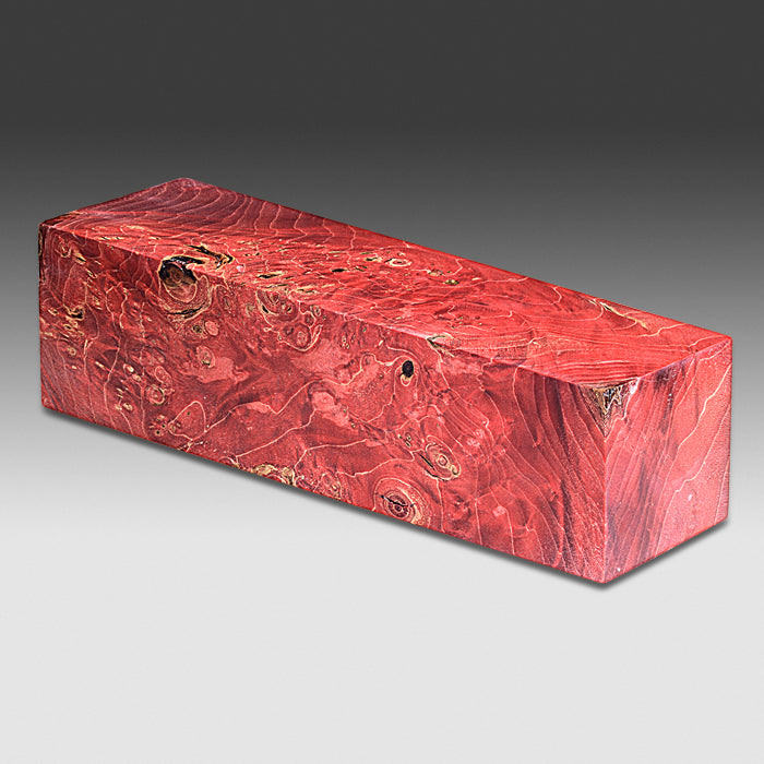 1295 Red Maple Burl - Dyed Red