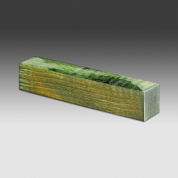 "1796 Curly Maple - Dyed Green 5.9"" x 1.1"" x 1.1"""