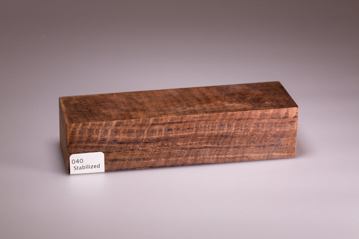 040 Curly Walnut Stabilized