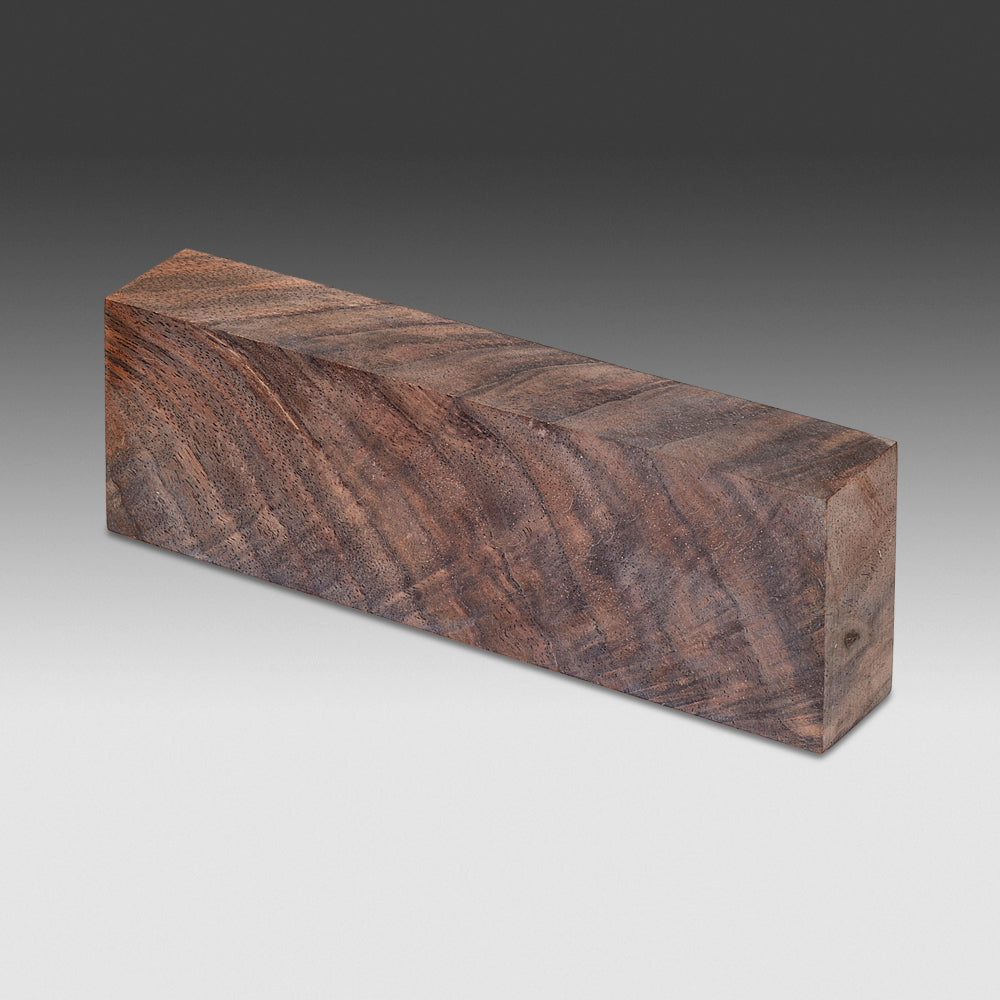 625 Stabilized Curly Walnut - Natural