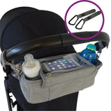 Grey BTR Buggy Organiser with pram clips 2 for £20.00 special offer