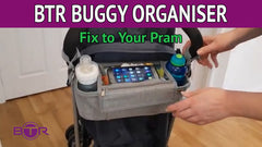 How to attached a BR buggy organiser to your pram