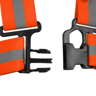 BTR High Viz sash shown with clip fastening detail