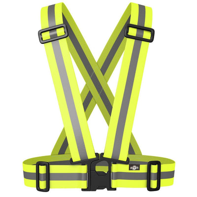 Neon yellow sash - great for kids visibility & safety in the dark -
