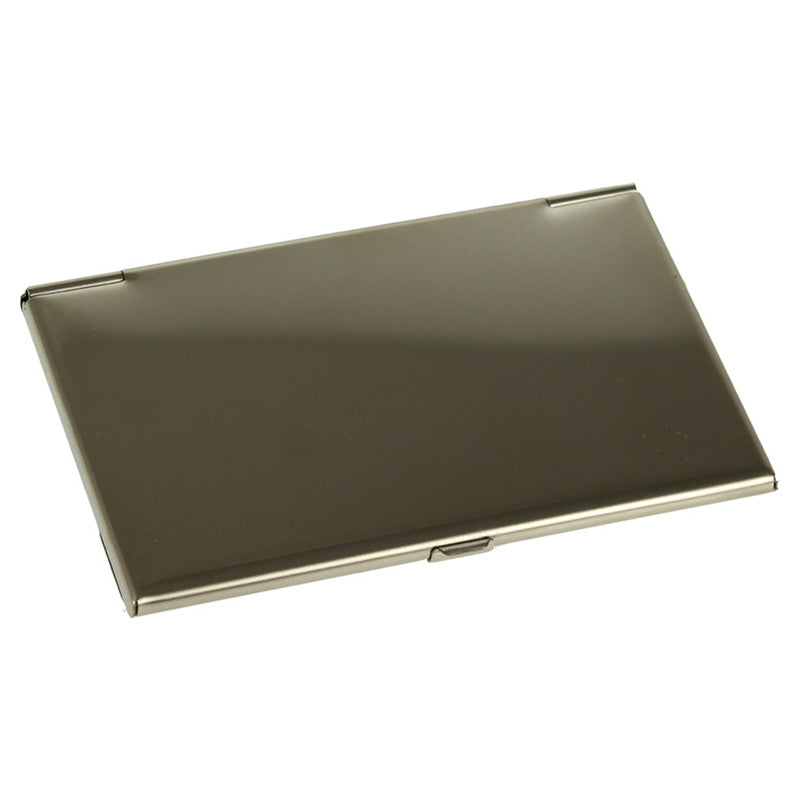 Shiny Stainless Steel Business Card Holder – Eternity Engraving