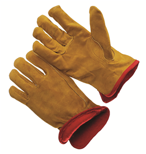 53214 Fleece lined split cowhide leather glove
