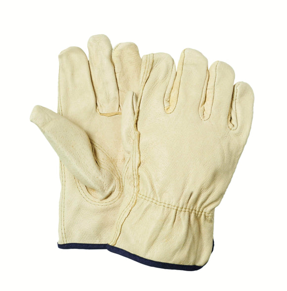 54731 Pigskin red fleeced lined leather driver glove