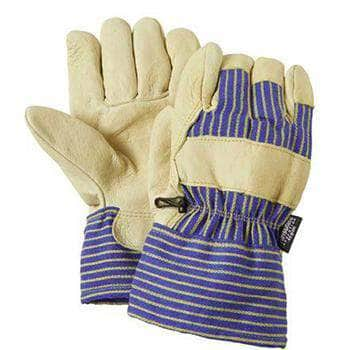 5552TH-40G Thinsulateå» Lined Pigskin Leather Palm Work Glove with Cloth Canvas Back
