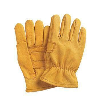 701PP Gold goatskin leather glove with a palm patch