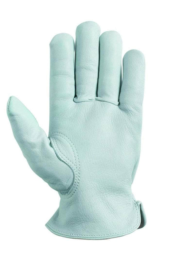 8250 White goatskin unlined leather glove driver