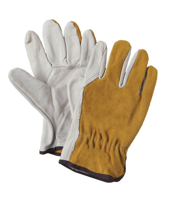 8335 Grain cowhide palm leather glove with a split leather back