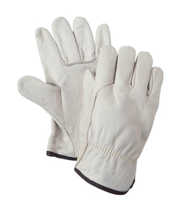 84435 White grain cowhide leather glove