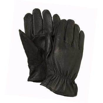 GB808-1 Black grain deerskin leather glove driver