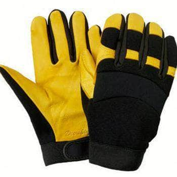 GB737 Grain Deerskin Mechanics Glove with Nylon Knit Back