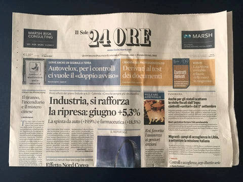Sep t-shirt su il Sole 24 Ore
