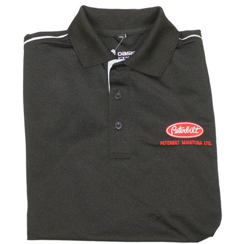 Peterbilt Manitoba Oasis Black/Grey Golf Shirt