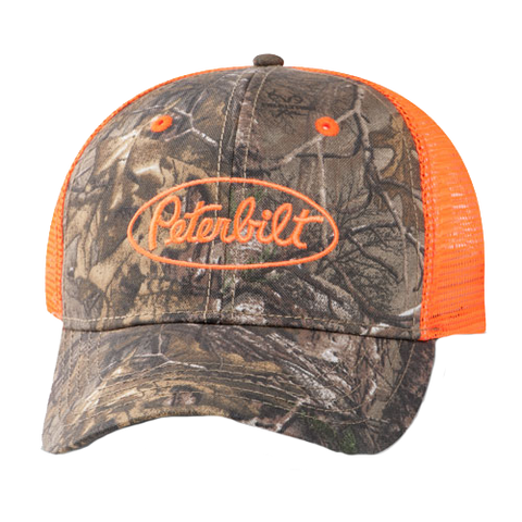 Orange Realtree Camo Cap