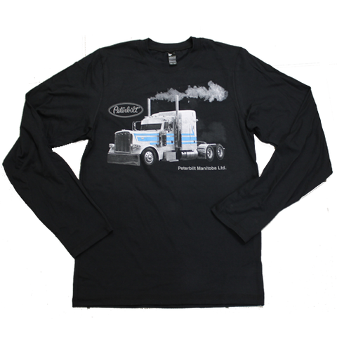 Peterbilt Manitoba White & Blue Project Truck Long Sleeve