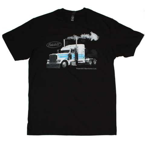 Peterbilt Manitoba White & Blue Project Truck T-shirt
