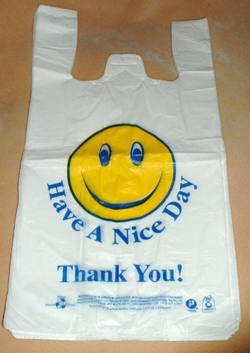 T-Shirt and Grocery Bags - Smile Face - 43471 - 200 Qty