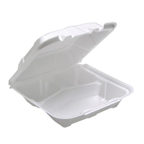 3 Compartment Container with Black Base and Clear Lid
