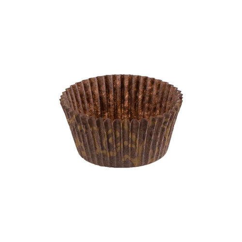 Brown With Gold Scroll Baking Cup - 2