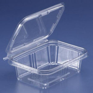 Tear Strip-Tear Pinch Hinged Container