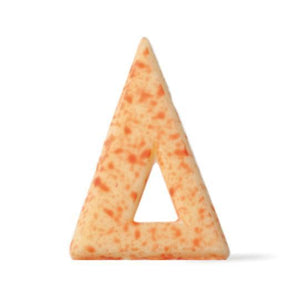 Blizzard Triangle White/Red Chocolate Decor