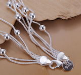 Lovely 925 Silver Plated Multi layer Bracelet