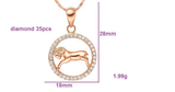 Birth Sign Pendant Rose Gold Necklace