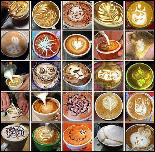 Creative 16pcs/set Coffee Latte Cappuccino Barista Art Stencils