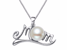 Mothers Gift - Mom Pearl Pendant Necklace Jewellery