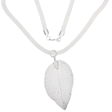 Lovely 925 Sterling Silver Jewelry Leaf Necklace