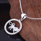 Silver Birth Sign Pendant Necklace