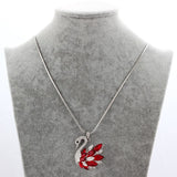 Cubic Zirconia Swan Pendant Necklace