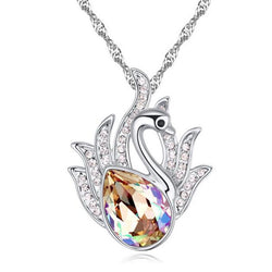Korea Swan Pendant Crystal Necklace from Swarovski