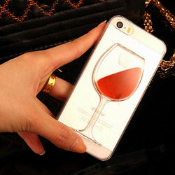 Red Wine Clear Transparent iPhone 5C Case