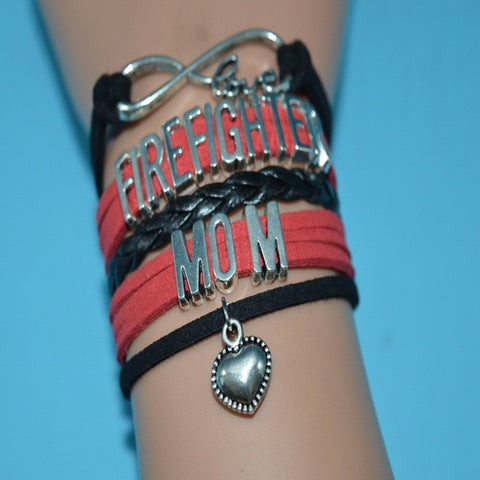 Infinity Love Firefighter Bracelets