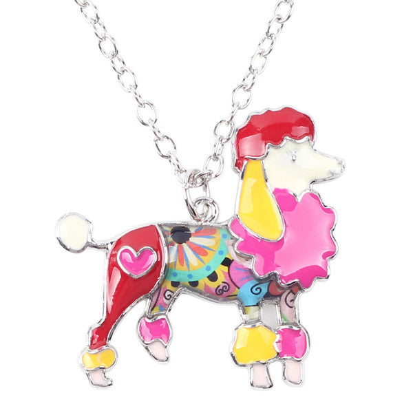 2017 Lovely Poodles Pendant Necklace