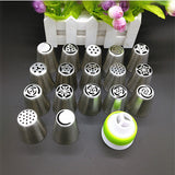 17Pcs Cake Decorating Icing Piping Nozzles