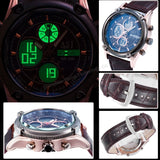 Men's Racing Leather Sports Watch